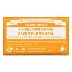 DR BRONNERS Pain De Savon Agrume, Orange -140G