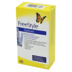 FREESTYLE OPTIUM - 100 Electrodes de dosage de glycémie