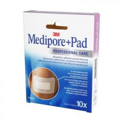 MEDIPORE + PAD ADH ST 5X7,2CM10