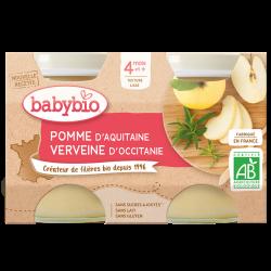 BABYBIO POMME DE NOUVELLE-AQUITAINE VERVEINE D'OCCITANIE x 2 -