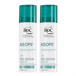 ROC KEOPS Déodorant spray fraîcheur Lot de 2x100 ml