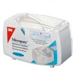 MICROPORE Sparadrap Microporeux Blanc Non Tissé 25 mm x 9,14 m