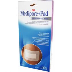 MEDIPORE + PAD Pansement Adhésif Stérile 10X20CM 10