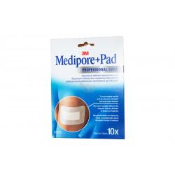 MEDIPORE + PAD Pansement Adhésif Stérile 10X10CM 10