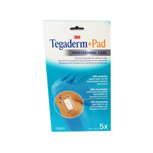 TEGADERM + PAD Pansement Transparent Stérile 9CMX20CM - 5