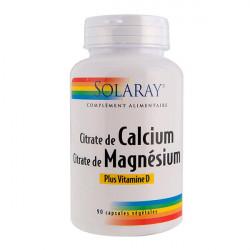 SOLARAY CALCIUM/ MAGNÉSIUM/ VITAMINE D - 90 Capsules