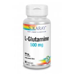 SOLARAY L-GLUTAMINE 500MG - 50 Capsules