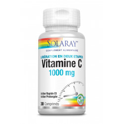 SOLARAY VITAMINE C – 1000 MG - 30 Comprimés