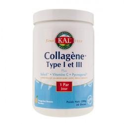 KAL COLLAGÈNE TYPE 1 ET 3 - Poudre en Maxi-Pot de 298 g