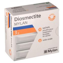 DIOSMECTITE MYLAN 3 g Poudre pour suspension buvable sachets