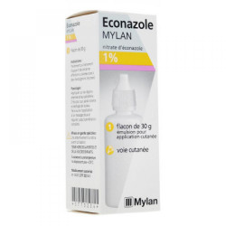 ECONAZOLE MYLAN 1%, émulsion pour application cutanée, flacon