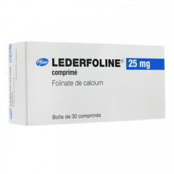 LEDERFOLINE 25 mg, comprimé, boîte de 30
