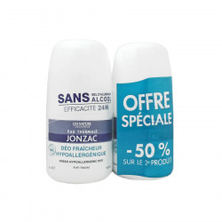 Eau de Jonzac Déo Fraicheur Haute Tolerance Bio Lot de 2 x 50 ml