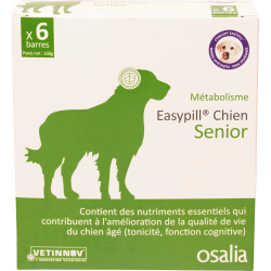 OSALIA EASYPILL CHIEN SENIOR - 6 Barres de 28 g