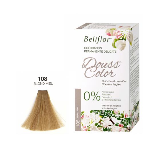 BELIFLOR COLORATION CHEVEUX DOUSSCOLOR N°108 Blond Miel - 131 ML
