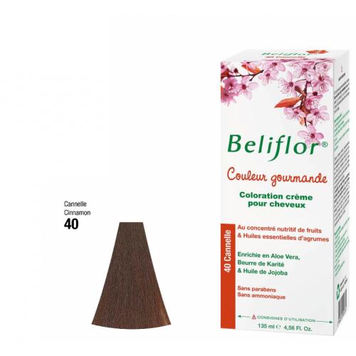 BELIFLOR COLORATION GOURMANDE CHEVEUX N°40 Cannelle - 135 ML