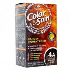 COLOR & SOIN Coloration Permanente N°4A - Marron Glacé