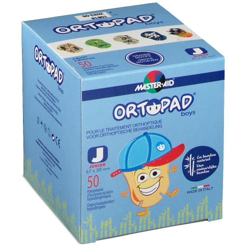 ORTOPAD BOY PANSEMENT OCULAIRE GD/MOT JUNIOR - 50 Pièces