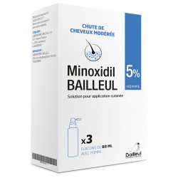 MINOXIDIL BAILLEUL 5% Solution 3x60ml