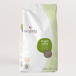 ARGILETZ ARGILE VERTE GRANULÉE - 3 Kg