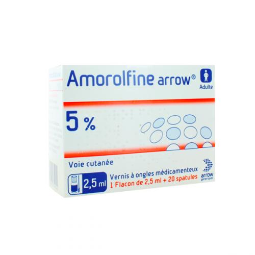 AMOROLFINE ARROW 5 % Vernis à ongles médicamenteux - 1 Flacon +