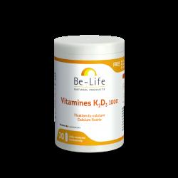 BE LIFE VITAMINE K2 + D3 1000 - 30 Gélules