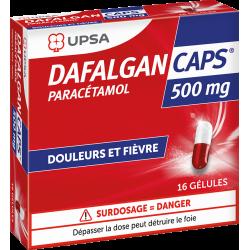 UPSA DAFALGAN CAPS 500 mg - 16 gélules