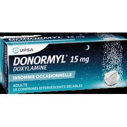 UPSA DONORMYL 15 mg - 10 Comprimés Effervescents