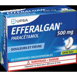 UPSA EFFERALGAN 500 mg - 16 Comprimés Orodispersibles