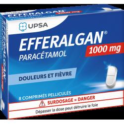UPSA EFFERALGAN 1000 mg - 8 Comprimés