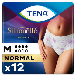 TENA SILHOUETTE NORM MED 12