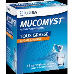 UPSA MUCOMYST 200 mg Poudre - 18 Sachets