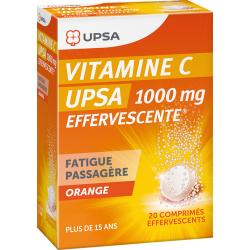 UPSA VITAMINE C 1000 mg Orange - 20 Comprimés Effervescents