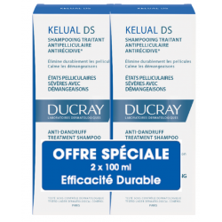 DUCRAY KELUAL DS Shampooing Antipelliculaire - 2x100ML