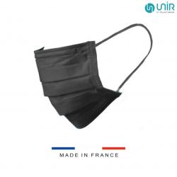 MASQUE CHIRURGICAL FRANCAIS NOIR Type IIR x 50 Masques - UNIR