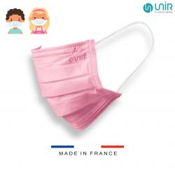 MASQUE CHIRURGICAL FRANCAIS Enfant 6-10 Ans x 50 Masques - ROSE