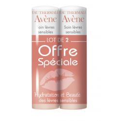 AVÈNE Soin Lèvres Sensibles Stick - Lot de 2x4G