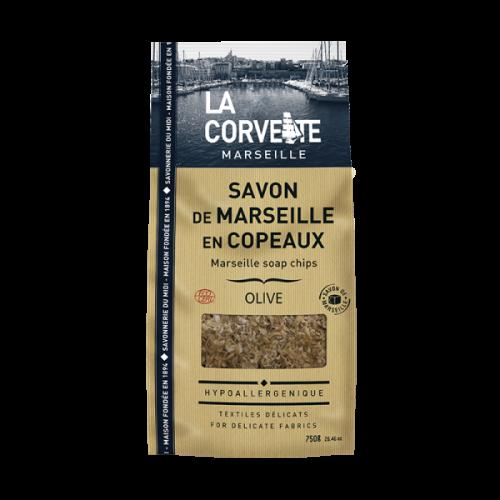 LA CORVETTE Savon De Marseille En Copeaux Olive 750g