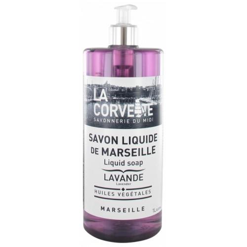 LA CORVETTE Savon Liquide De Marseille Lavande 1l