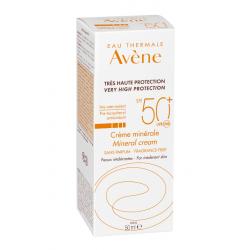 AVÈNE SOLAIRE Crème Minérale Sans Parfum SPF 50+ - 50ML