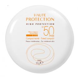 AVÈNE SOLAIRE Haute Protection Compact Teinté Doré SPF 50 - 10G