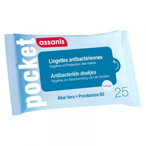 ASSANIS POCKET LINGETTES Hydro Alcoolique 25 LINGETTES
