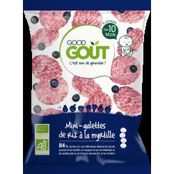 GOOD GOUT MINI-GALETTES DE RIZ À LA MYRTILLE - 40 g