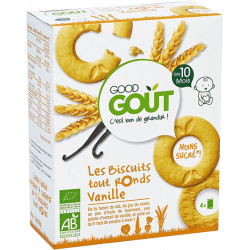 GOOD GOUT LES BISCUITS TOUT RONDS VANILLE - 80 g
