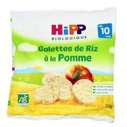 HIPP GALETTE RIZ POMME - 30 g