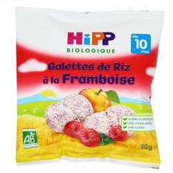 HIPP GALETTE RIZ FRAMBOISE - 30 g