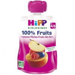 HIPP COMPOTE POM PECH FR GOURD - 90 g
