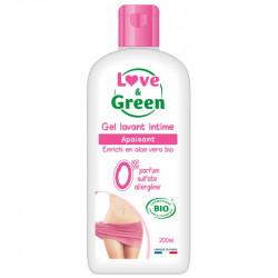 LOVE & GREEN GEL LAVANT INTIME APAISANT BIO - 200 ml
