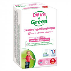 LOVE & GREEN COUCHES CULOTTES ÉCOLOGIQUES 8 À 15 KG ET PLUS -