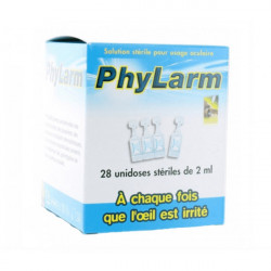 PHYLARM 0,9% Solution oculaire irrigation 28Unidoses/2ml